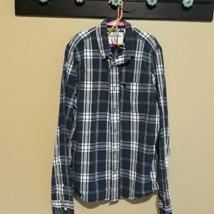 ABERCROMBIE kids XL collared button-up